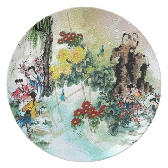 TRIPTYCH ASIA VINTAGE PLATE