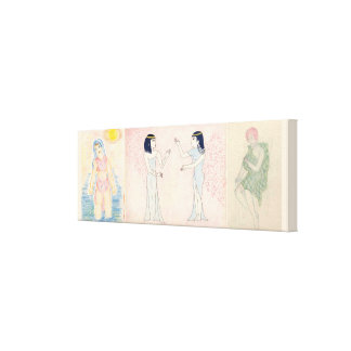 triptych different people different times canvas print