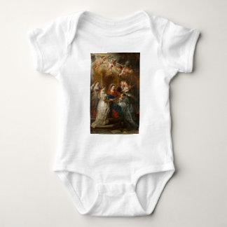 Triptych St. Idelfonso - Peter Paul Rubens Baby Bodysuit