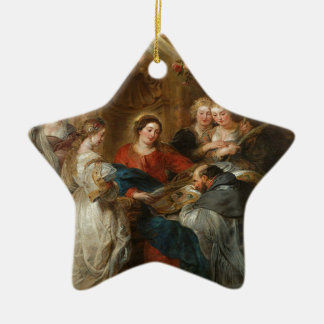 Triptych St. Idelfonso - Peter Paul Rubens Ceramic Ornament