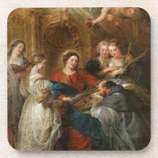 Triptych St. Idelfonso - Peter Paul Rubens Coaster