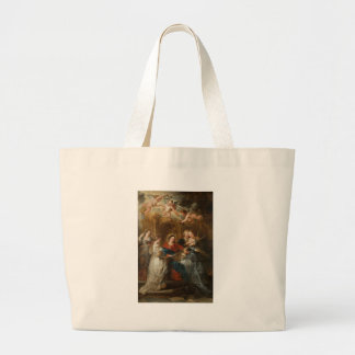 Triptych St. Idelfonso - Peter Paul Rubens Large Tote Bag