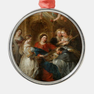 Triptych St. Idelfonso - Peter Paul Rubens Metal Ornament