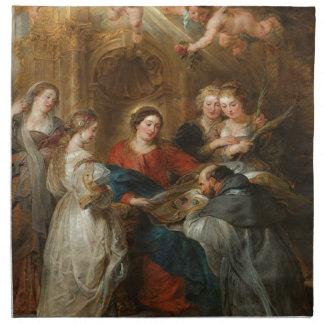 Triptych St. Idelfonso - Peter Paul Rubens Napkin