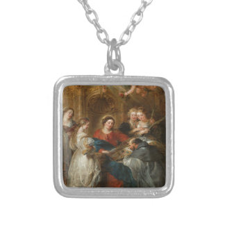 Triptych St. Idelfonso - Peter Paul Rubens Silver Plated Necklace