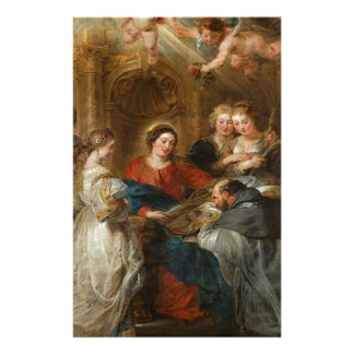 Triptych St. Idelfonso - Peter Paul Rubens Stationery