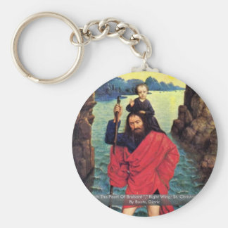 Triptych The Pearl Of Brabant Basic Round Button Keychain