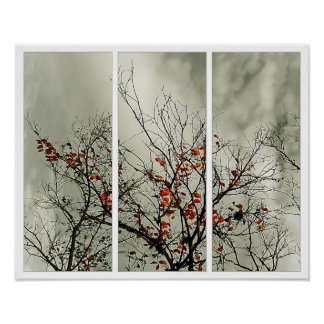 Triptych with natural motive poster