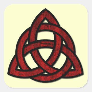 Triquet Celtic Knot - pick your background color! Square Sticker