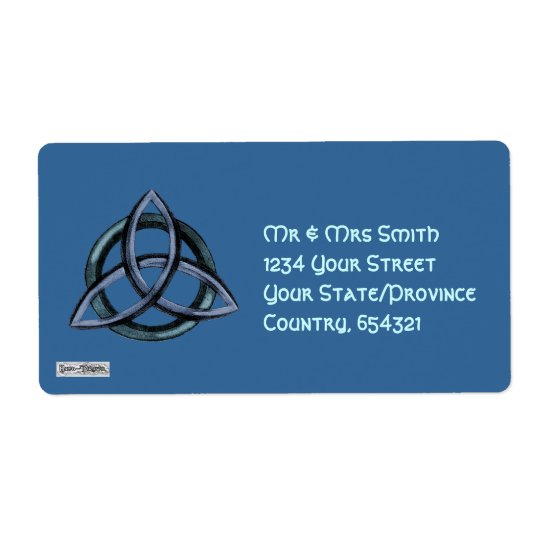 Triquetra (Blue) Shipping Label