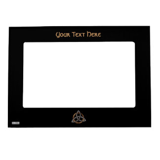 Triquetra (Brown/Silver) Photo Frame Magnets
