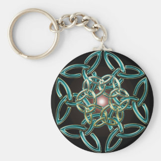 Triquetra Circle Knot Keychain