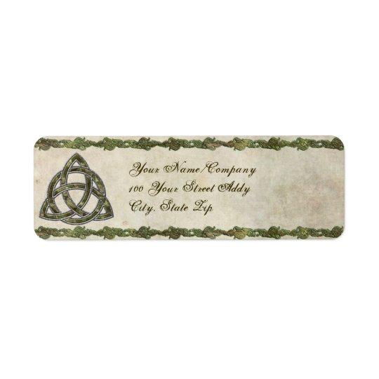 Triquetra Natural Return Address Label