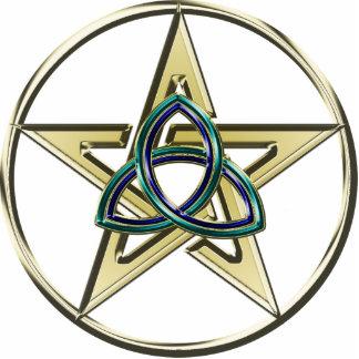 Triquetra Pentagram Keychain Photo Sculpture Keychain