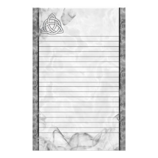 Triquetra Silver Bevel Lined Stationery Paper