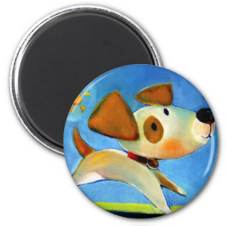 Trish Biddle Childrens Doggy 1 of 3 2 Inch Round Magnet