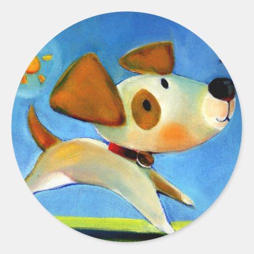 Trish Biddle Childrens Doggy 1 of 3 Round Sticker