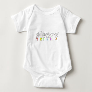 TRISHA ASL FINGERSPELLED NAME SIGN BABY BODYSUIT