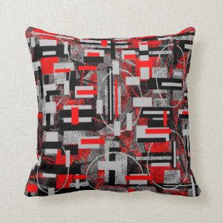 Trisha Blue Water Red Grays Pillow PB