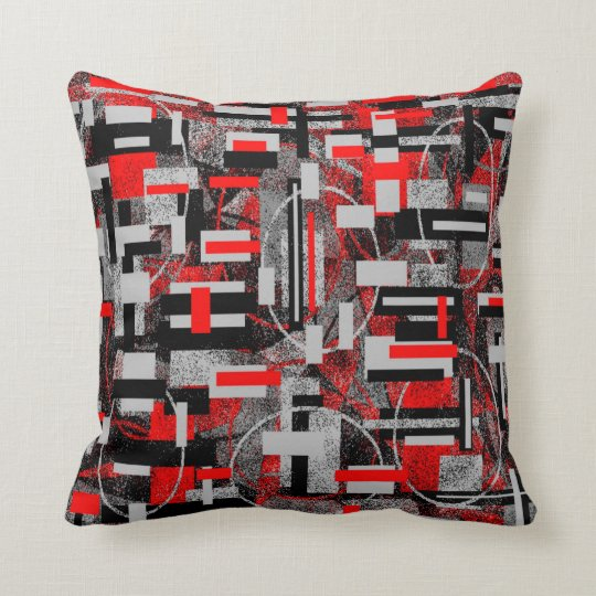Trisha Blue Water Red Greys Pillow PB