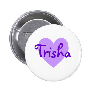 Trisha in Purple 2 Inch Round Button