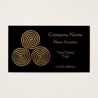 Triskele-gold Business Card