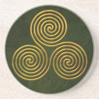 Triskele-gold Coaster