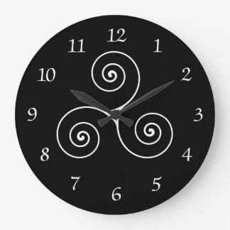 Triskele Symbol Large Clock