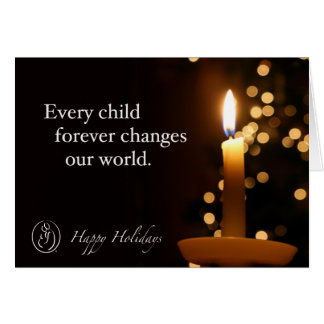 Trisomy 18 Foundation Happy Holidays Candle Quote Card