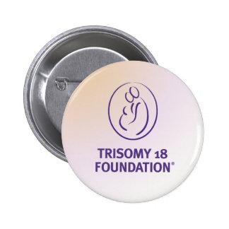 Trisomy 18 Foundation Logo - Multi-Colour Button