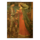 Tristan and Isolde by Waterhouse, Vintage Fine Art Card