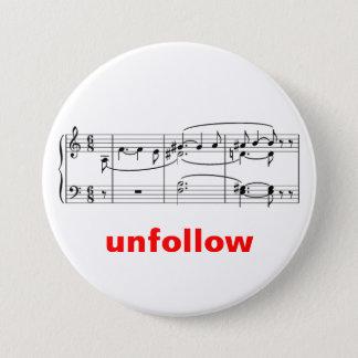 Tristan-Chord-Unfollow 3 Inch Round Button