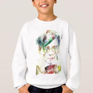 tristan tzara - watercolor portrait sweatshirt
