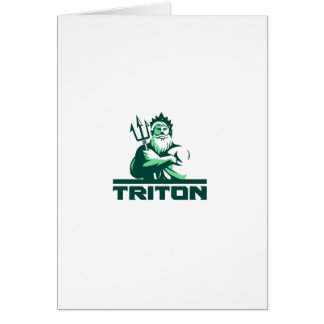 Triton Arms Crossed Trident Front Retro Card