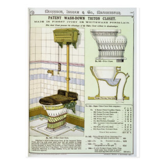 Triton Closet from a catalogue of sanitary wares p Postcard