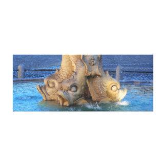 Triton fountain - Rome Canvas Print