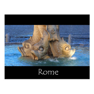 Triton fountain - Rome Postcard