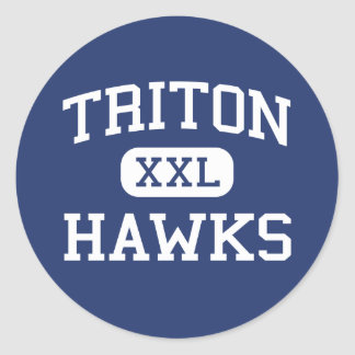 Triton - Hawks - High - Erwin North Carolina Classic Round Sticker