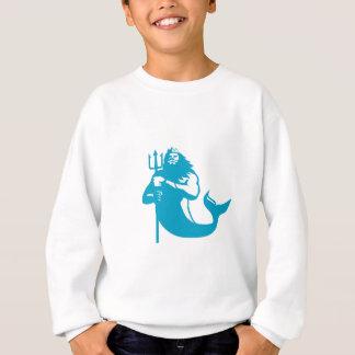 Triton Wielding Trident Retro Sweatshirt