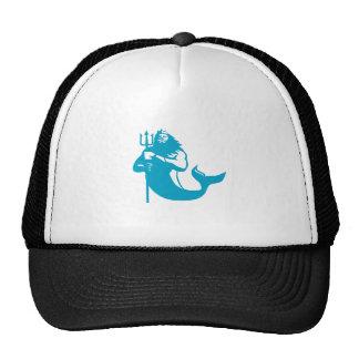 Triton Wielding Trident Retro Trucker Hat