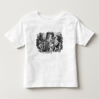 Tritons grooming two horses of the sun in grove shirt