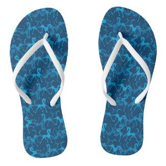 Tritty Foxtrotter Blue Flip Flops