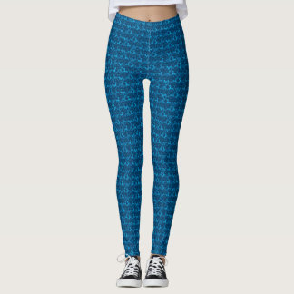 Tritty Foxtrotter Blue Leggings