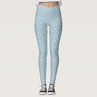 Tritty Foxtrotter Dusky Blues Leggings
