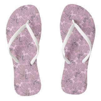 Tritty Foxtrotter Dusky Pinks Flip Flops