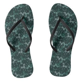 Tritty Foxtrotter Greens Flip Flops