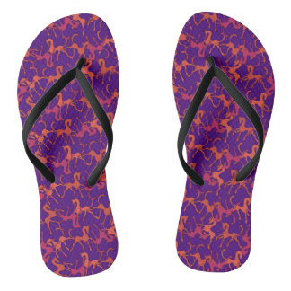 Tritty Foxtrotter Purple Flip Flops