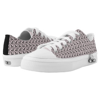 Tritty Painted Foxtrotter Kitten Pink Low-Top Sneakers