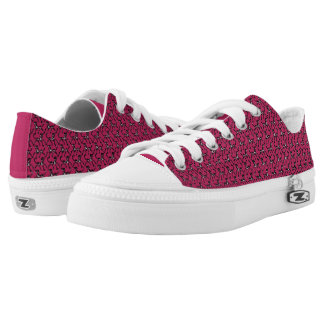 Tritty Painted Foxtrotter Pink Low-Top Sneakers