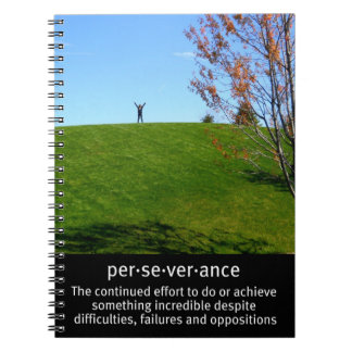 Triumph and Perseverance Spiral Notebook